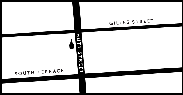 Hutt St Cellars Map